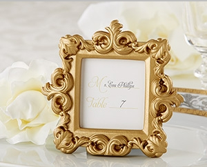 """Royale"" Gold Baroque Place Card/Photo Holder "" title=""""Royale"" Gold Baroque Place Card/Photo Holder"