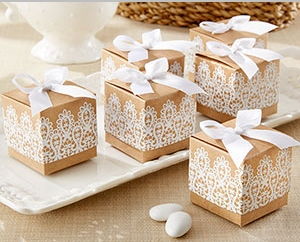 """Rustic & Lace"" Kraft Favor Box (Set of 24) "" title=""""Rustic & Lace"" Kraft Favor Box (Set of 24)"