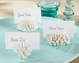 """Seven Seas"" Coral Place Card/Photo Holder (Set of 6)"" title=""""Seven Seas"" Coral Place Card/Photo Holder (Set of 6)"
