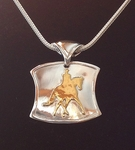 "22Kt. GOLD  & SILVER  DRESSAGE NECKLACE - ""THE WELLINGTON ""      **"