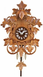 Quartz Clock with  Hand-carved  Vines & Leaves  Cuckoo Chime  No Bird