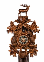 Hunter with Animals 8 Day Movement Cuckoo Clock