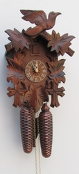 "CUCKOO CLOCK 12"" LEAF & BIRD  8 DAY MOVEMENT"