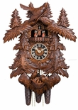 Germany Cuckoo Clock Nesting Birds and Trees Exquisitely Detailed