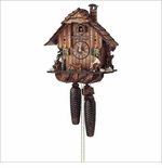 Wood Chopper Cuckoo Chalet Clock