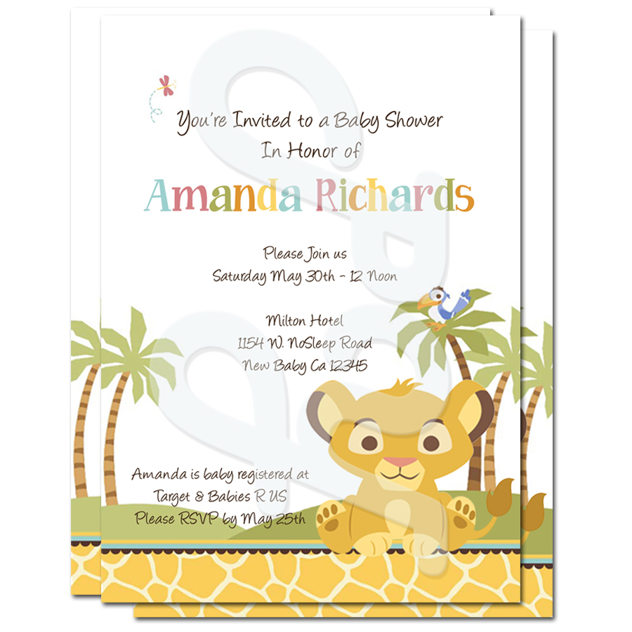 lion king baby shower personalized, Baby shower