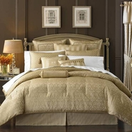 Waterford Anya Pale Gold Queen Comforter Set