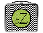 Chevron and Dots Monogram Lunchbox