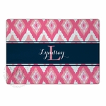 Pink Ikat Cutting Board