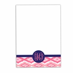 Pink Ikat Large Notepad