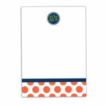 Preppy Dots Large Notepad