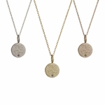 The Elizabeth Collection Tiny Gold Disc with Birthstone