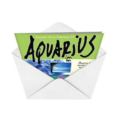 Aquarius Zodiac Birthday Card NobleWorks