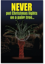 Christmas Light Palm Tree Card