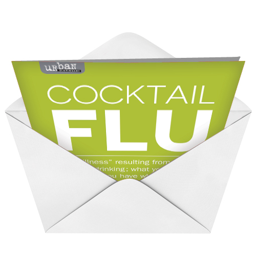 Cocktail Flu Udecide Products Get Well Paper Card