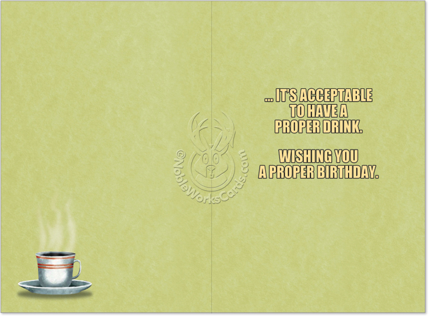 coffee distraction funny birthday greeting cardnobleworks, Birthday card