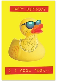 Cool Duck Birthday Card