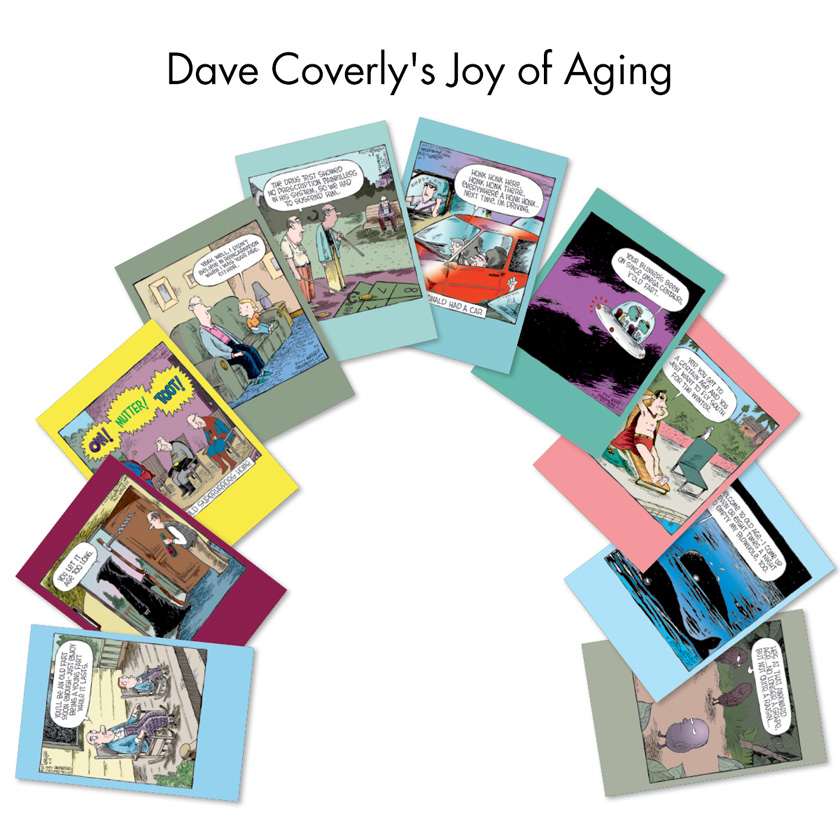 Dave Coverlys Joy Of Aging Assorted Cartoons Birthday Card Dave – Birthday Cards Assorted