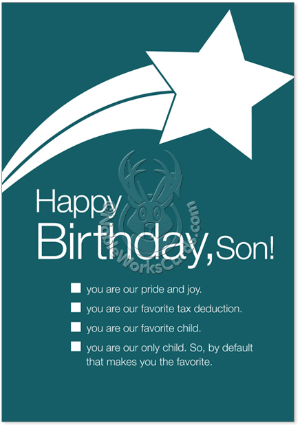 Happy birthday son cards gangcraft happy birthday son udecide products birthday paper card udecide birthday card bookmarktalkfo Choice Image