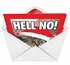 Hell No Humor Merry Christmas Greeting Card Nobleworks image 2