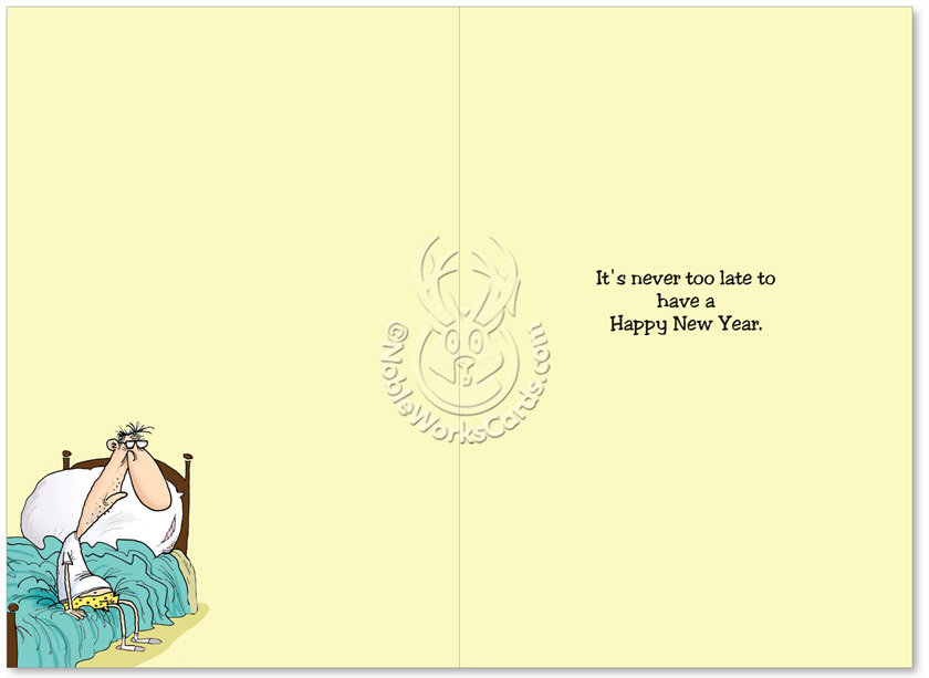 Last Year Resolutions Funny New Years Greeting Card|NobleWorks