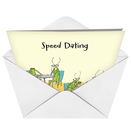 speed dating card