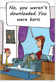You Weren't Downloaded Card