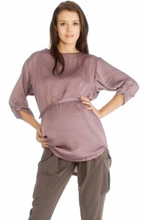 9Fashion Maternity Blexa Satin Blouse Mauve
