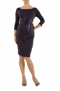 9fashion Maternity Dacja Satin Tie Dress Marengo