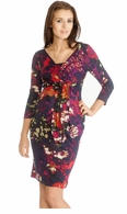 9fashion Maternity Floral Holly Faux Wrap Dress