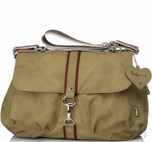 Maternity Clothes: Babymel Katie Diaper Bag Tan - Click to enlarge