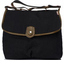 Maternity Clothes: Babymel Satchel Bag Waxy Black - Click to enlarge