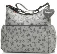 Maternity Clothes: Babymel Slouchy Bow Diaper Bag Grey - Click to enlarge