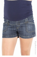 Bedondine Maternity Denim Shorts