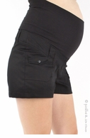 Bedondine Maternity Pique Cotton Shorts (Black, White or Coral) - Final Sale