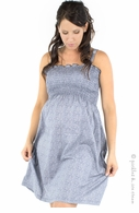 Bedondine Maternity Navy Floral Smocked Sundress - Final Sale