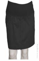 Bellyssima Maternity Sateen Skirt Black