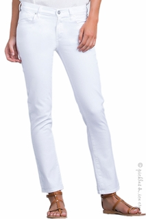Maternity Clothes: Citizens of Humanity Maternity Underbelly Phoebe Crop Jeans White - Click to enlarge