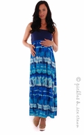 Everly Grey Maternity Grace Ocean Maxi Dress