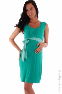 Everly Grey Maternity Gwen Sash Dress Green - Final Sale