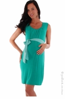 Everly Grey Maternity Gwen Sash Dress Green