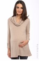 zzEverly Grey Maternity Champagne Kelsey Tunic