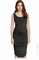 Isabella Oliver Ruched Tank Dress Caviar Black
