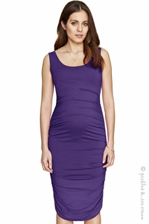 Maternity Clothes: Isabella Oliver Ruched Tank Dress Ink  - Click to enlarge