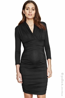 Maternity Clothes: Isabella Oliver Olivia Dress Caviar Black - Click to enlarge