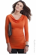 Isabella Oliver Leiston Cowl Top Burnt Coral