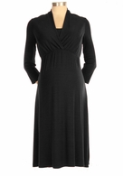 Japanese Weekend Maternity d&a Memory Rib Dress Black