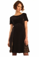 Japanese Weekend Maternity d&a Black Lacey Luxe Dress - Final Sale