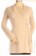 Japanese Weekend Maternity Cream Wrap Sweater Tunic