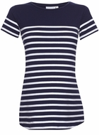 JoJo Maman Maternity Short Sleeve Breton Stripe Top